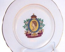 Hughes Longport Commemorative Plate: Queen Elizabeth II Coronation 1953