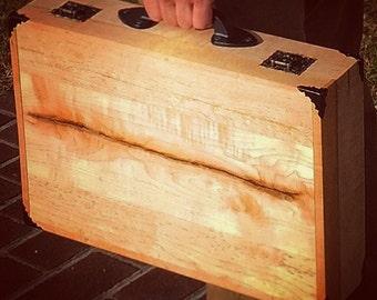 Unique Wood Briefcase Laptop Case
