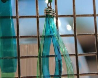 Twice as nice recycled dangle earrings