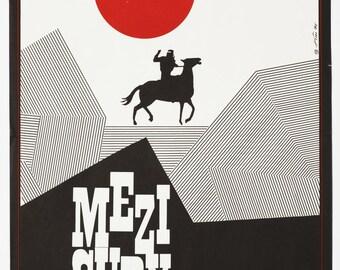 Vintage minimalist poster etsy for Minimal art 1970