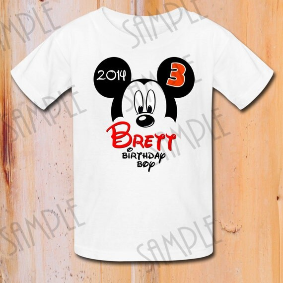 T Shirt Disney Mickey Mouse Iron On Transfer Printable Birthday Boy Digital Download