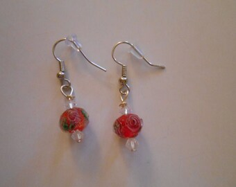 Pink Rose Earrings Item No. 26