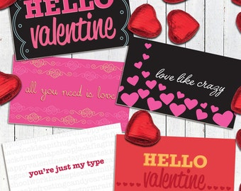 Hello Valentine Pack  |  5 Little Valentine Cards