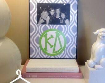 Kappa Delta Grey Monogram Frame
