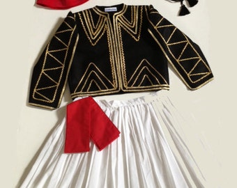 Boys - Black Greek Tsolia Costume & Separates