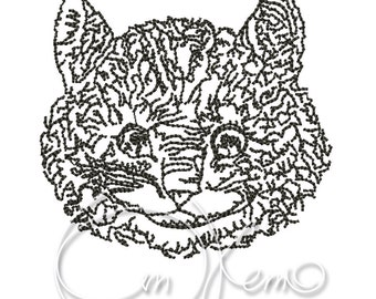 MACHINE EMBROIDERY DESIGN - Cheshire Cat Alice in Wonderland