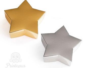 Star Shape Printable Gift Box Template - PDF Digital File - Instant Download