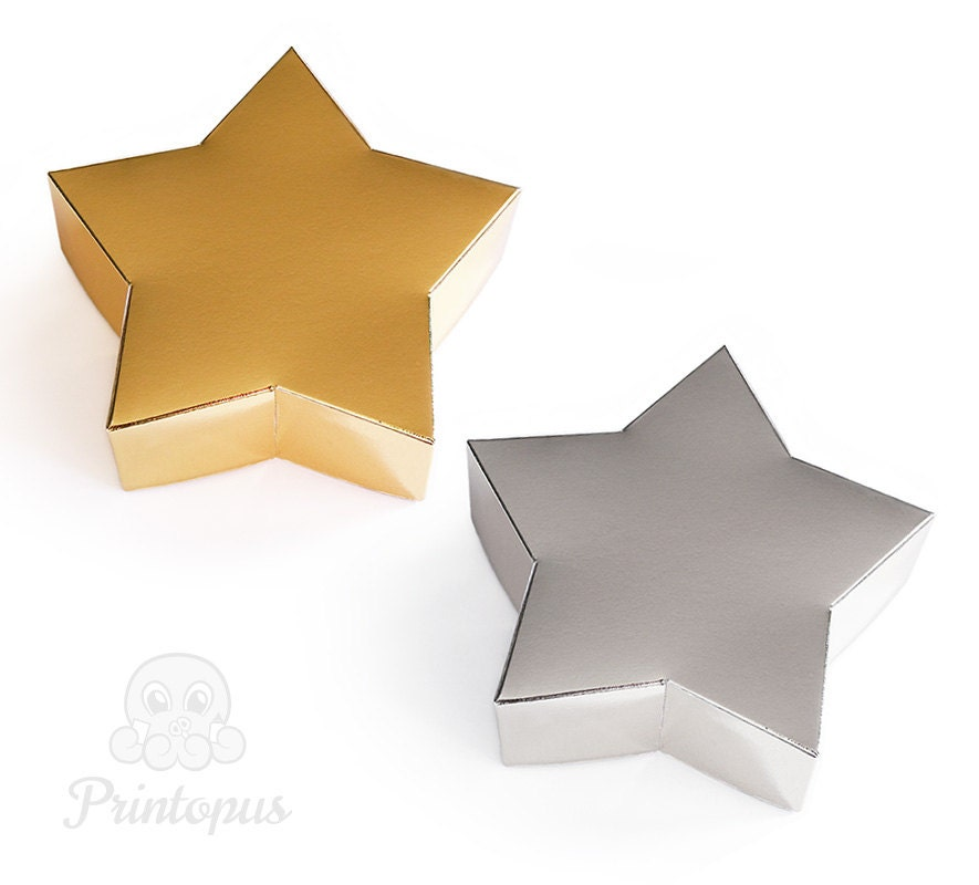 Star Shape Printable Gift Box Template PDF Digital File