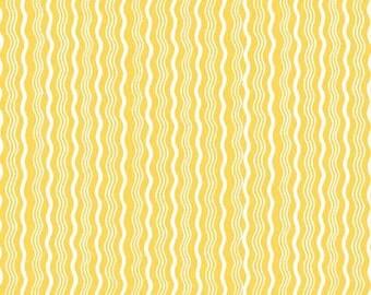 Yellow Stripe Fabric, Riley Blake C522-06 Crimp, Yellow Quilt Fabric, Yellow Cotton Stripe Fabric, Yellow Fabric, Yellow & White