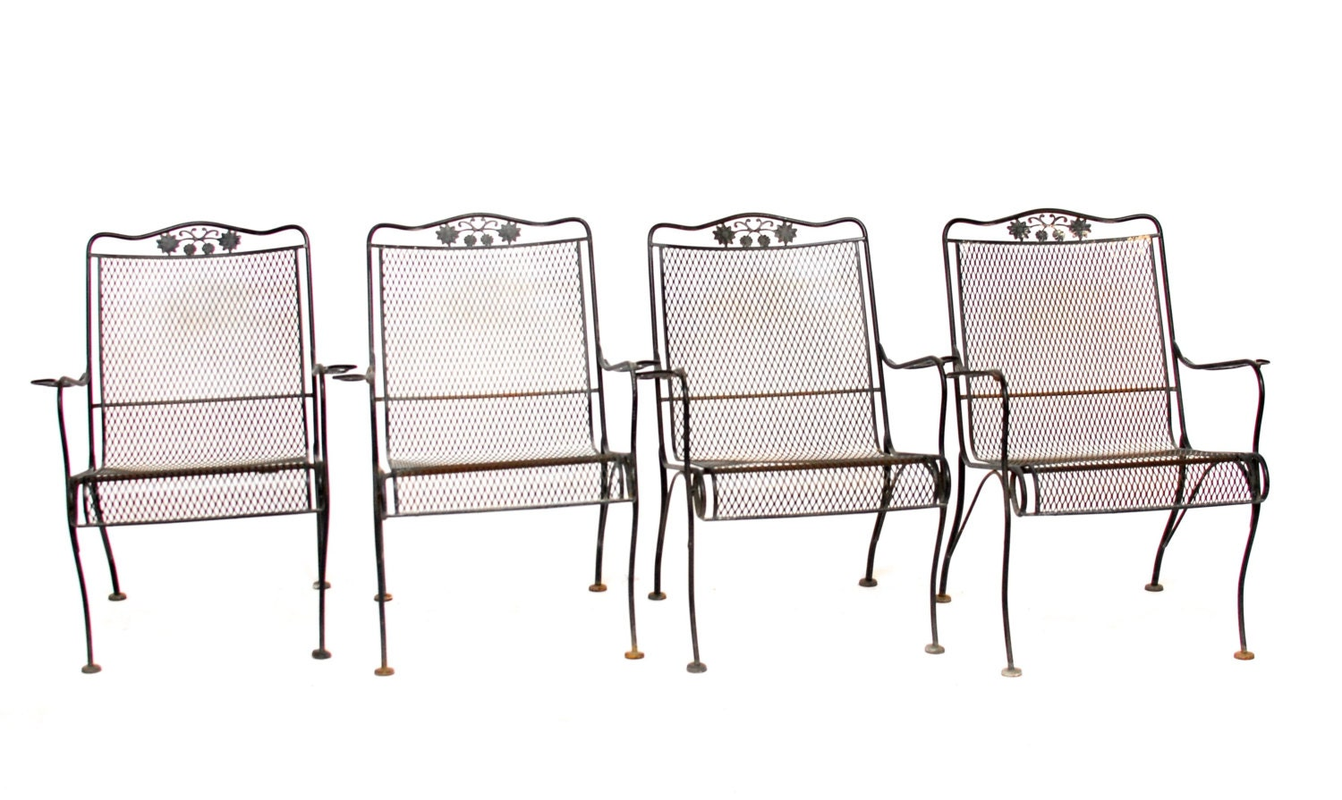 vintage woodard wrought iron patio chairs haute juice
