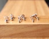 Sterling Silver Ball 3 earrings set, 3 pairs Sterling Silver ball Stud Earring, Silver Dot Set, Minimalist jewelry, Stud earrings, Gift