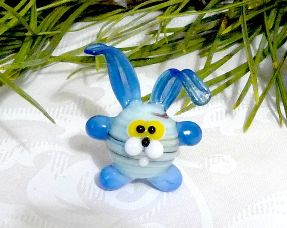 Glass Rabbit Figurine сute bunny figure