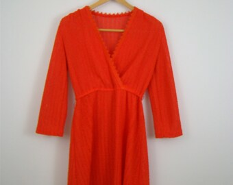 80s Red knit Dress