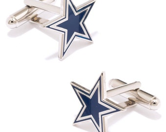 Dallas Cowboys style Cufflinks Cuff Links Best man Groomsmen Wedding Gift Father's Day Graduation Dad Birthday Football