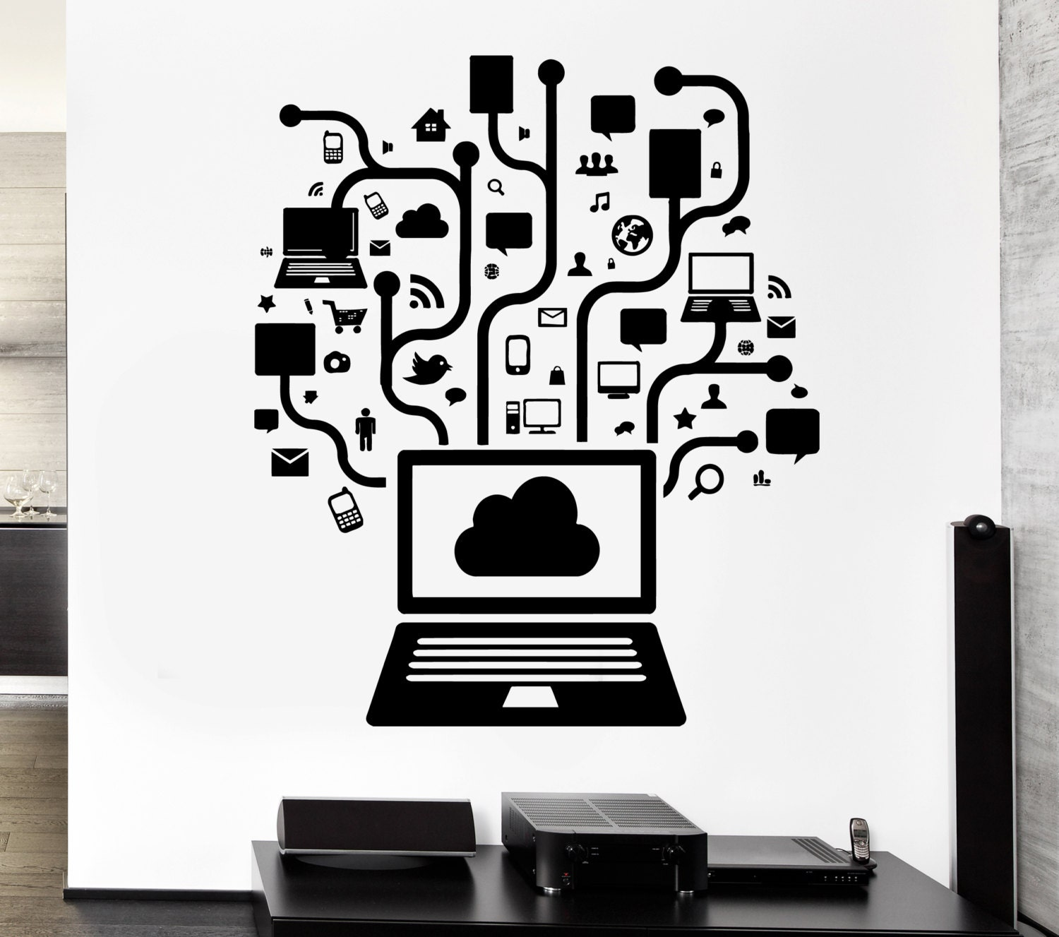 Wall Decal Gamer Online Social Network Gaming Internet Teen