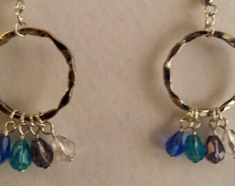Summer Hoop Dangle Earrings