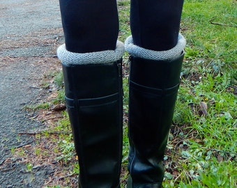 Boot Toppers, Leg Warmers,Boot Cuffs, Boot Warmers, Boot Socks, Boot liners, Women's Boot Socks / THE OWYHEE  / Gray