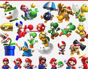 Mario Bros-27 PNG-Pack 2-Instant Download