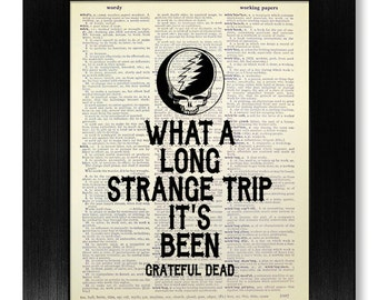 Steal Your Face, GRATEFUL DEAD Art, Song LYRIC Art, Jerry Garcia Rock Poster, Rock Band Poster Print, Music Room Decor, Man Cave Sign Gift