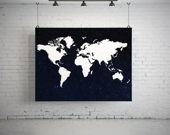 World Map Poster, World Map Art, World Map Print, World Map Space, World Map Decor, World Map Digital, World Map Download, Printable