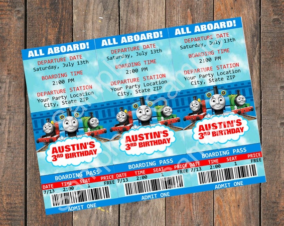 thomas the train friends birthday invitation by kirstenskreation