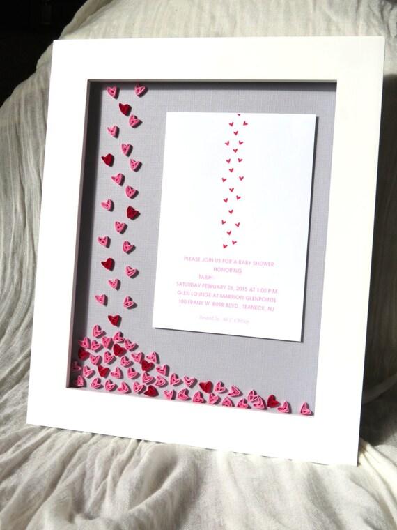 baby shower invitation framed keepsake unique baby shower gift