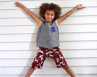 Gino pants for boy or girl-size 4 to 10-Childrens clothing