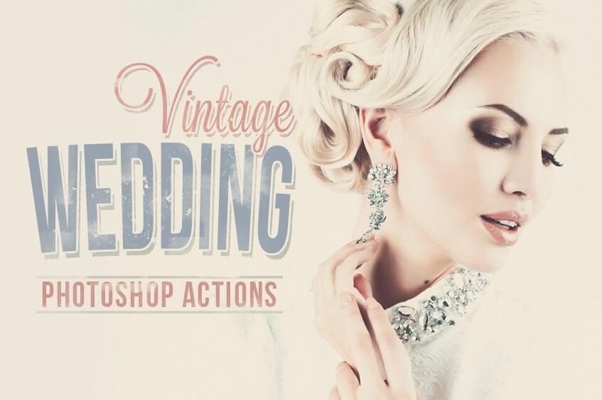 Wedding Photoshop Actions Adobe Camera RAW Presets Vintage