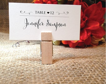 Wedding Place Cards Wedding Table Cards Placecards Escort Cards Name Cards (Stylish) (Clip NOT included)  **CHECK Images+Detail