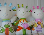 PDF sewing pattern soft toy Stuffed doll Plushie    Little   'BRIGHT SPARKS'