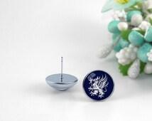 Dragon age gray wardens Earrings Jewelry, Stud earrings, post earings, Glass Round 12mm