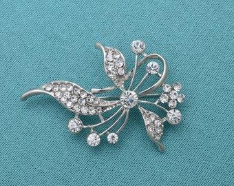 Rhinestone Brooch Crystal Brooch Wedding Accessories Bridal Brooch Pin Rhinestone Brooch