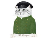 The Chauffeur / PRINT / Cat Art / Cat Print / Cat Drawing / Cat Portrait / Cat Illustration
