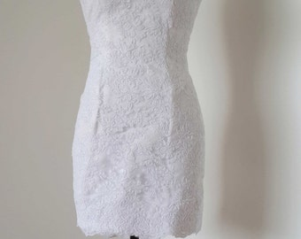 Sweetheart White Lace Short Wedding Reception Dress
