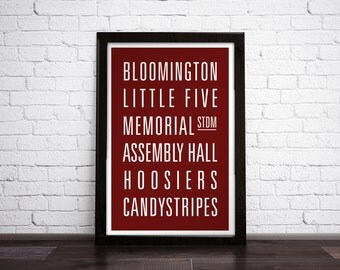 INDIANA UNIVERSITY - Subway Art Print - Customizable