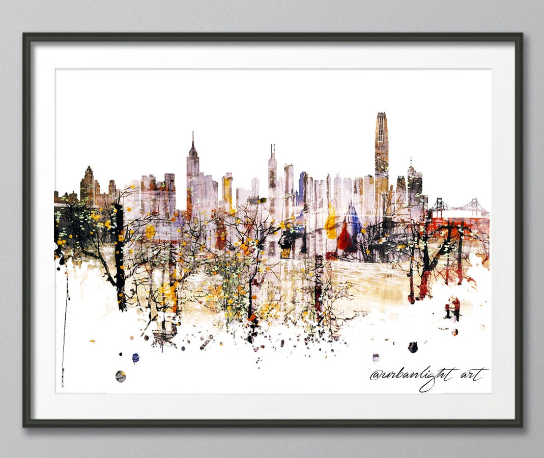 Skyline hong kong skyline urban buildings urban silhouette for Buy art posters online