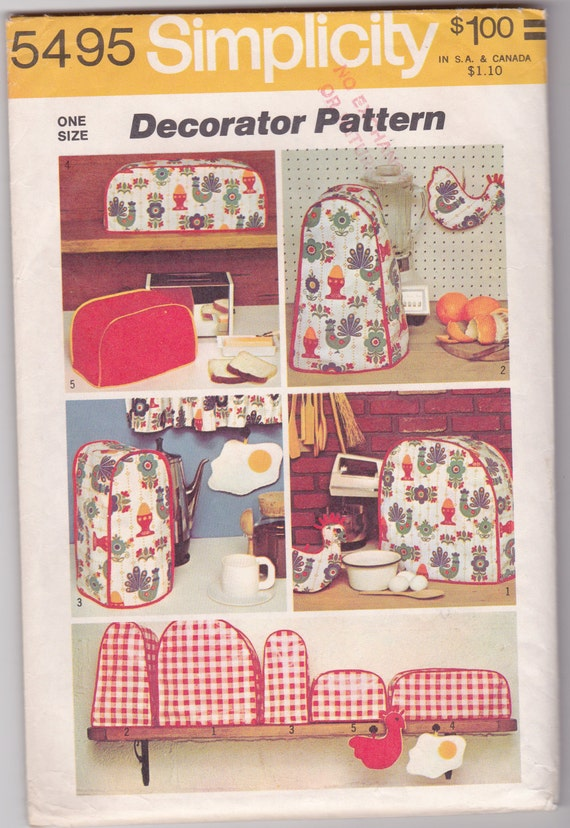 Kitchen Appliance Covers Sewing Pattern Toaster Mixer Blender