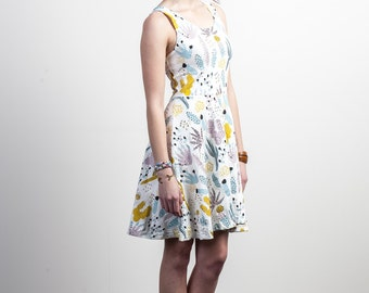 Cactus Dress - Twirling Dress - Printed Dress- Organic Cotton - Floral Dress - Hand Printed -Slow Fashion -Thief and Bandit®
