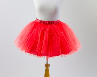 Christmas Tutu skirt for women, red party tulle skirt, adult red skirt, red teen tutu skirt, red prom skirt,  tutu