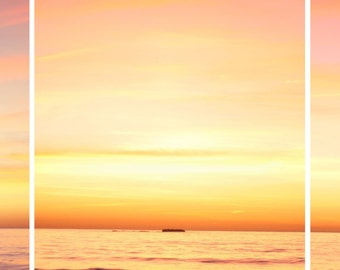 Pacific Sunset Set - Three 8x8 Photographs