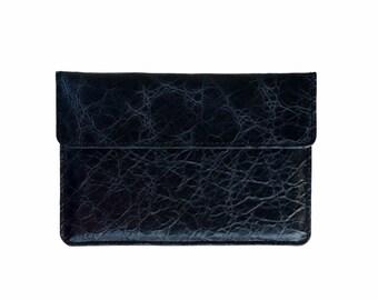 iPad Pro Black Antiqued Buffalo Leather iPad Air Sleeve, iPad Mini, Dell Venue 8 7000 Case