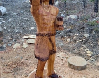 Chainsaw Carving Cigar Store Indian