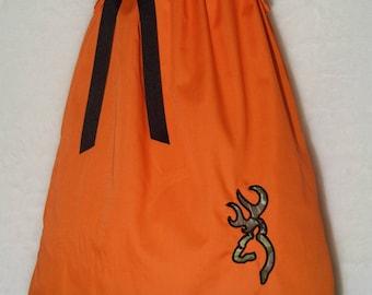 Camo Dress / Realtree + Orange / Deer / Pageant / Flower Girl / Wedding / Newborn / Infant / Baby / Girl / Toddler/ Custom Boutique Clothing