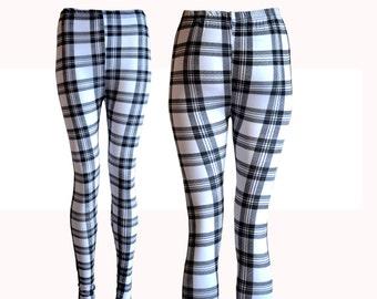 Black and white striped leggings – Etsy UK