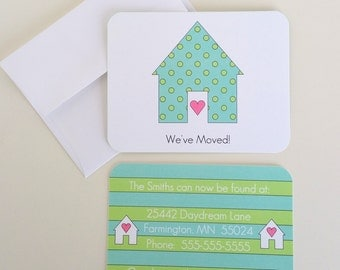 Set 10 Change of Address Cards We've Moved Cards Realtor Gift Housewarming Gift New Home Gift Personalized Stationery Set New Address Cards