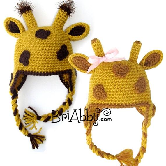 Crochet Pattern Giraffe Hat : Crochet Giraffe Hat Pattern PDF FILE