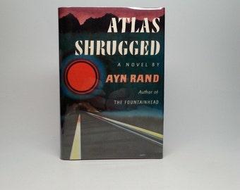 First Edition 1st Printing Atlas Shrugged by Ayn Rand 1957 Random House Hardcover Book