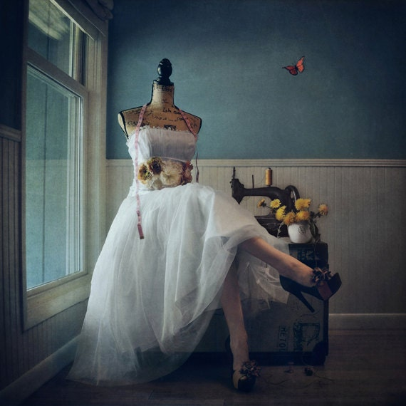 The Dressmaker - LIMITED EDITION, Matted Print, Surreal, Whimsical, Fine Art Photography