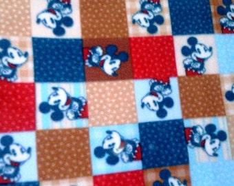 Mickey Mouse Patchwork Look Twin  Fleece Blanket