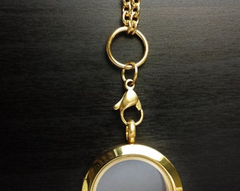 Medium Gold Floating Locket-Medium-25mm-Stainless Steel-Gift Idea for Women